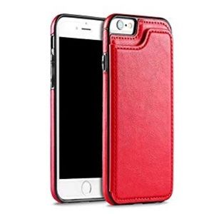 """Red iPhone 6s/6 plus case with wallet on back 5.5"""""""